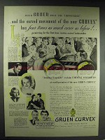 1937 Gruen Curvex Peer, Countess Watch Ad, Omar Kiam