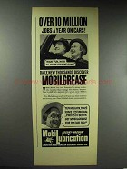 1938 Mobil Mobilgrease Ad - 10 Million Jobs a Year