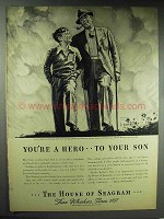 1938 Seagram Whiskey Ad - You're a Hero to Your Son