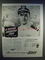 1942 Navy Aviation Ad - Education Free If You Qualify