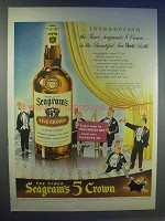 1942 Seagram's 5 Crown Whiskey Ad - Host Bottle