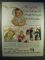 1943 Ivory Soap Ad - My Name is Marybelle