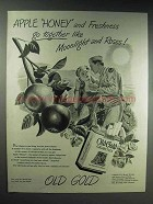 1944 Old Gold Cigarettes Ad - Moonlight and Roses