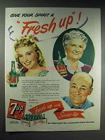1944 7-up Soda Ad - Give Your Spirit a Fresh Up!