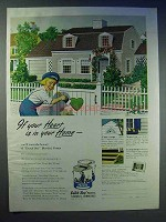 1951 Dutch Boy Paint Ad - If Your Heart is in Your Home