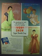 1954 Ivory Snow Detergent Ad - Wash With Care