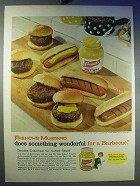 1956 French's Mustard Ad - Wonderful For a Barbecue