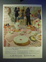 1958 Lenox Rhodora China Ad - A Home of Your Own