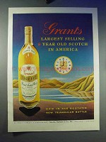 1958 Grant's Scotch Whiskey Ad - Largest Selling