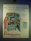 1959 Hotpoint Refrigerator Ad - Swing Out Shelves