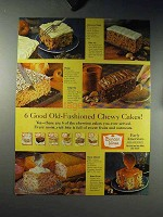1960 Duncan Hines Cake Mix Ad - Chewy Cakes