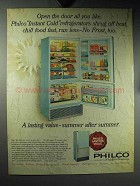 1964 Philco 17RM48 Instant Cold Refrigerator Advertisement