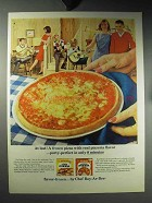1964 Chef Boy-ar-Dee Frozen Pizza Ad - Real Flavor