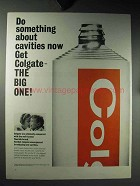 1964 Colgate Toothpaste Ad - About Cavities