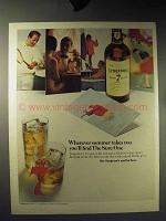 1965 Seagram's 7 Crown Whiskey Ad - Find The Sure One