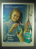 1965 Newport Cigarettes Ad - Ready to Try Fresh Taste