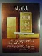 1966 Pall Mall Cigarettes Advertisement - Long on Flavor