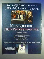 1967 Parliament Cigarettes Ad - Night-on-the-Town