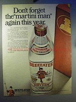 1968 Beefeater Gin Ad - Don't Forget Martini Man