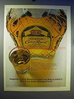 1969 Seagram's Crown Royal Whisky Ad - So Good