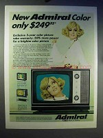 1969 Admiral K-10 Chassis Color Portable TV Ad
