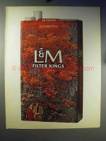 1970 L&M Cigarettes Ad - Filter Kings