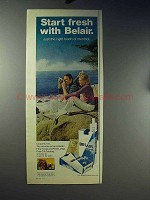 1971 Belair Cigarettes Ad - Start Fresh