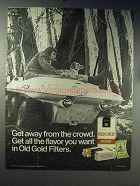 1971 Old Gold Cigarettes Ad - Away From the Crowd