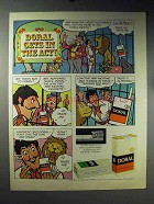1971 Doral Cigarettes Ad - Doral Gets in the Act
