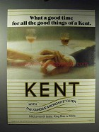 1971 Kent Cigarettes Ad - Good Time for Good Things