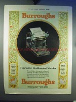 1930 Burroughs Typewriter Bookkeeping Machine Ad