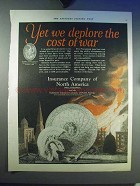 1924 Insurance Company of North America Ad - War