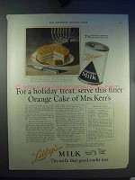 1923 Libby's Evaporated Milk Ad - Orange Cake