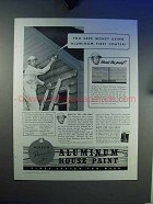 1940 Alcoa Albron Aluminum House Paint Ad - Save Money
