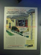 1948 Reynolds Aluminum Ad - Gutters, Casement Windows