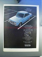 1970 Toyota Corona Car Ad - Answer To Traffic Traumas