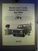 1969 Toyota Corolla Car Ad - Doesn't Ask For Much