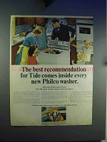 1965 Tide Detergent Ad - Comes Inside Philco Washer