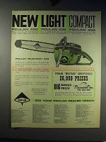 1965 Poulan 400 Chainsaw Ad - Light Compact