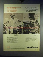 1966 David Brown Tractor Ad - Cost Less to Operate