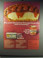 1966 Borden's Ad - Cherry-O Cream Cheese Pie