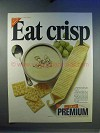 1967 Nabisco Premium Saltine Crackers Ad - Eat Crisp!