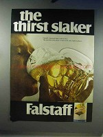 1968 Falstaff Beer Advertisement - The Thirst Slaker