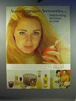 1968 Avon Cosmetics Ad - Fragrance Accessories