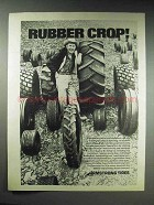1970 Armstrong Farm Tire Ad - Rubber Crop