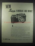 1947 Leica IIIc Camera Ad - New Cameras Are Here