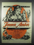 1947 Forever Amber Movie Ad - Linda Darnell