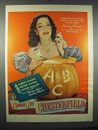 1947 Chesterfield Cigarettes Ad - Dorothy Lamour