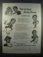 1947 U.S. Savings Bonds Ad - Danny Kaye