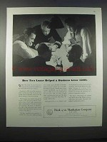 1946 Bank of the the Manhattan Company Ad - Two Loans